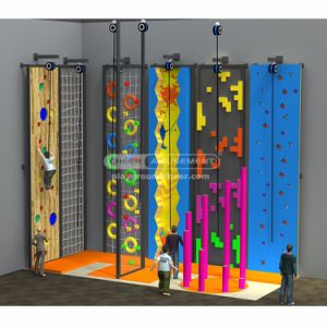 Cheer Amusement Custom Climbing Wall for Trampoline Park pictures & photos