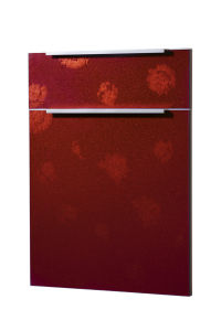 Pattern Embossed Flower Acrylic Kitchen Cabinet Door (ZH) pictures & photos