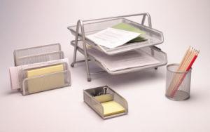 Metal Mesh Stationery Office Set