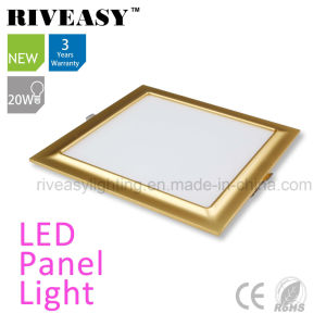 Electroplated Aluminum 20W Gold LED Panel Light pictures & photos