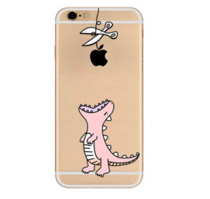 Crocodile Cartoon TPU Mobile Phone Case for iPhone, Oppo, Samsung