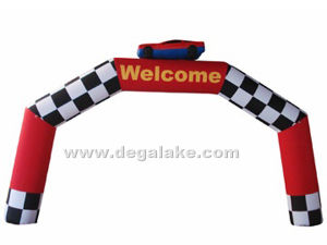 Commercial Advertising Inflatable Arch with Car Cartoon
