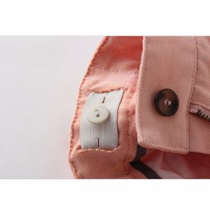Fashion Loose Pink Plain Cotton Girls Shorts pictures & photos