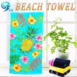 Promotional Velour Printed Beach Towel