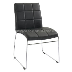 Leisure Chrome Leg Faux Leather Chair Without Armrest (SP-LC277) pictures & photos