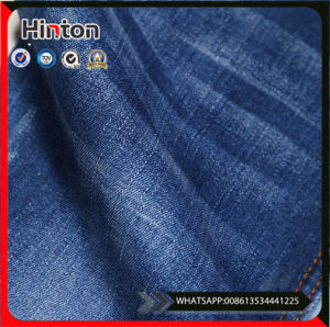 Poplin Bleached Cotton Denim Fabric for Jeans pictures & photos