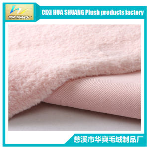 100% Polyster Fake Rabbit Fur Fabric