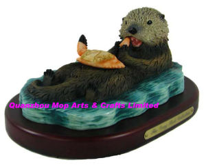 Polyresin Sea Otter Figurine, Resin Sea Otter Statue pictures & photos