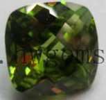 Checker Board Cut Cubic Zirconia Stone