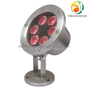 6W 12V/24V LED Underwater Light with CE, RoHS Certification