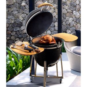 Kamado Ceramic Pizza Oven BBQ Charcoal Grill