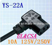 U. S. & Canada Right Angle Connector (YS-22A) pictures & photos