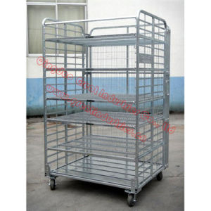 Tc4843, Foldable Roll Container, Foldable Trolley, Danishe Trolley, Display Flower Trolley, Plant Trolley, Flower Display Trolley,