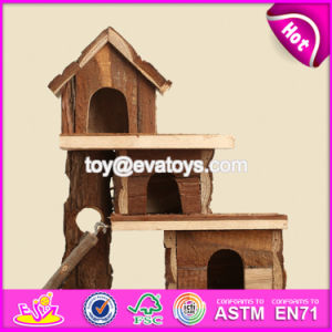 New Products Animals Accessories Funny Wooden Hamster Homes W06f017 pictures & photos