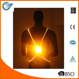 Reflective High Visibility LED Vest for Jogging pictures & photos