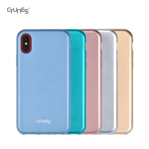 Metallic Matte Thin Protective Shock Absorption Bumper Soft Rubber TPU Cover Case for Apple iPhone X