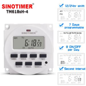 DC 12V 7 Days Programmable Automatic Feeder Timer Switch with 1 Second  Interval