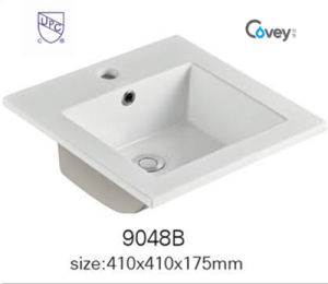 China Sanitary Ware Thin Edge Ceramic Sink/Basin with Cupc (A-9048B)