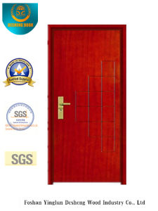 Red Brown Simplestyle Security Steel Door (B-1010) pictures & photos