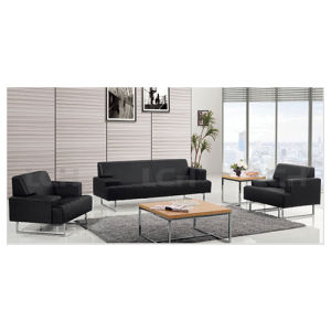 Modern Lounge Sofa Leather Upholstery for Living Room Office Room