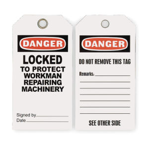 Durable PVC Danger Label for Safety Sign (2RMW8)