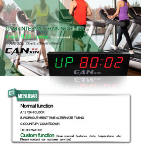 [Ganxin] 4 Inch Popular Precision Time Fitness Digital LED Clock