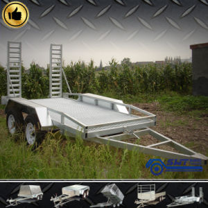 Tilting Plant Trailer 3.5t Galvanized Excavator Machinery (SWT-PT146) pictures & photos