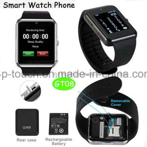 Cheapest Health Reminder Smart Watch Phone with SIM Card Slot Gt08 pictures & photos