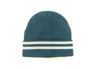 993231f046ff3 Mens Adults Knitted Acrylic Reflective Yarn Beanie Toque Winter Warm Hat