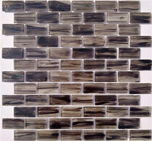 Compressed Glass Mosaic Tile for Hotel Patio Home Decoration