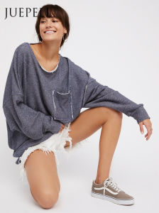 Open Back and Oversize Sweatshirt Fashion Hoodie pictures & photos