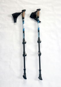 50% Carbon Flip Lock Nordic Walking Stick with Pedometer (MW1049A) pictures & photos