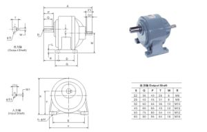Two Shaft Horizontal Gear Decelerates pictures & photos
