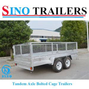 12*6 Tandem Bolted Twin Axle Box Cage Trailers