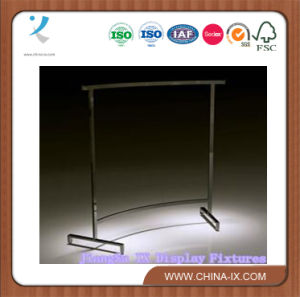 Display Rack Exhibition Rack Pipe Garment Rack with Steel Rolling pictures & photos