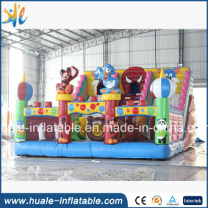 Cartoon Inflatable Bouncy Castle, Inflatable Fun City for Kids