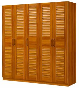 Solid Wood Wardrobe 5 Doors Wardrobe Bedroom Wardrobe pictures & photos