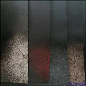 Brush-off PU Leather for Shoes Boots Classcial Times Style pictures & photos