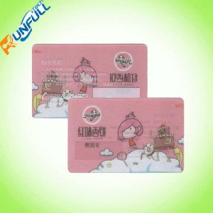 High Quality Clear Frosted PVC Membership Card pictures & photos