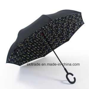 Colourful New Items Portable Handsfree Straight Reverse Inverted Umbrella