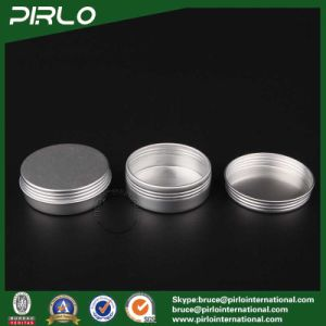 25g Silver Aluminum Tin Skin Care Cream/Lip Balm/Hair Wax Packing Aluminum Jar with Screw Lid pictures & photos