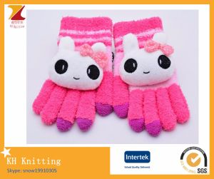 Half Fabric Cute Cartoon Gloves