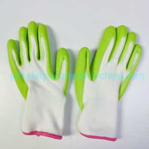 13 Gauge Bamboo Spandex Knitted Green Cute Kids Women Favorite Soft Hand Feeling Garden Work Glove