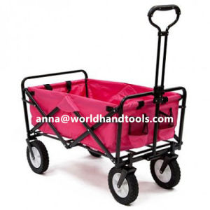 Folding 4 Wheel Wagon Trolley Foldable Collapsible Cart Sports/Garden