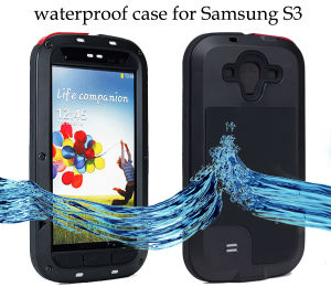 Waterproof Metal Case for Galaxy S3 with Gorilla Tempered Glass