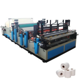 Automatic Perforating and Rewinding Machine to Make Toilet Paper Roll pictures & photos