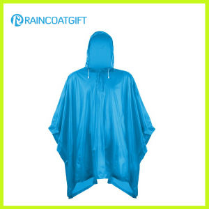 Clear PVC Rain Poncho with String Hood (Rvc-144) pictures & photos