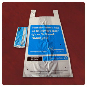 Plastic HDPE Charity Collection Bags for Second Hand Clothes pictures & photos