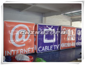 Great Full Paintings Cubic Helium Balloon with Customized Logo