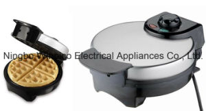 Electric 4-Slice Belgian Waffle Maker, Brushed Stainless Steel, Non-Stick Coating